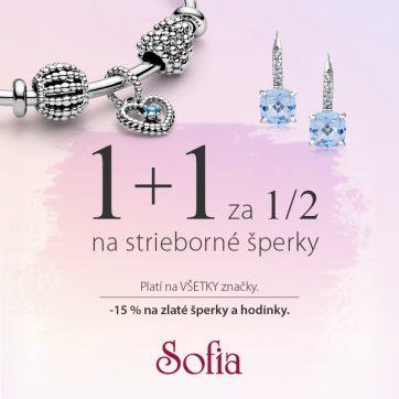 AKCIA 1+1 za polovicu v SOFIA Jewelry.