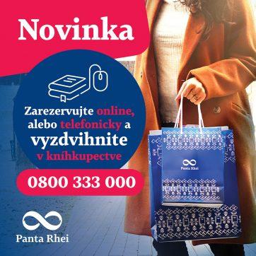 Knihy z kníhkupectva Panta Rhei si môžete rezervovať online alebo telefonicky!