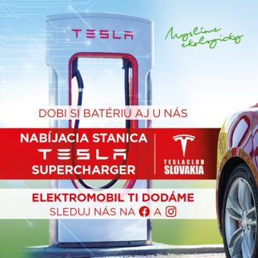 Nabíjacie stanice Tesla Supercharger a Ejoin